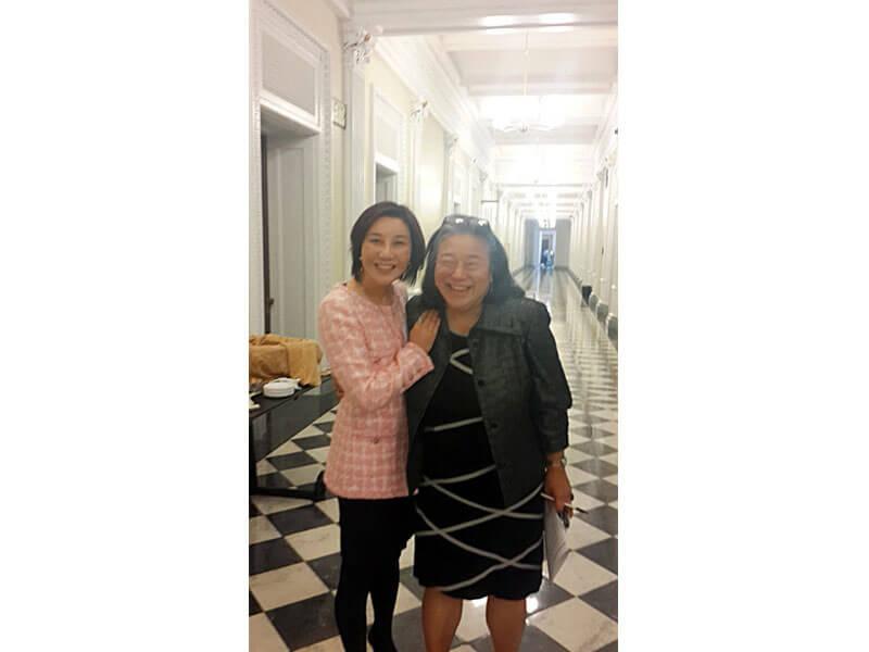 Shunee Yee and friend