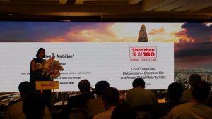 Shunee Yee speaks at the Honeywell's China Investors Week