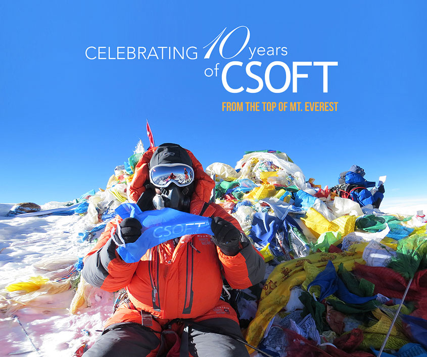csoft at the mount everest