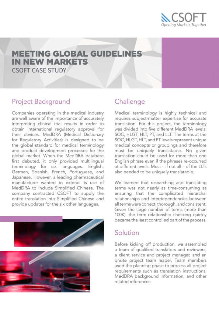 meeting guidelines meddra