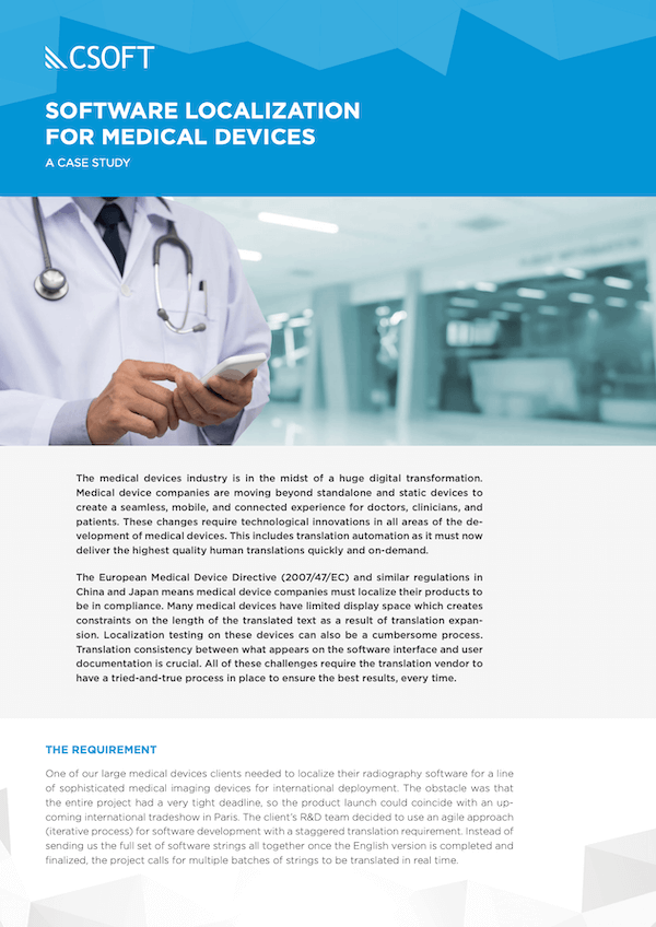 software localization for medical devices-cover