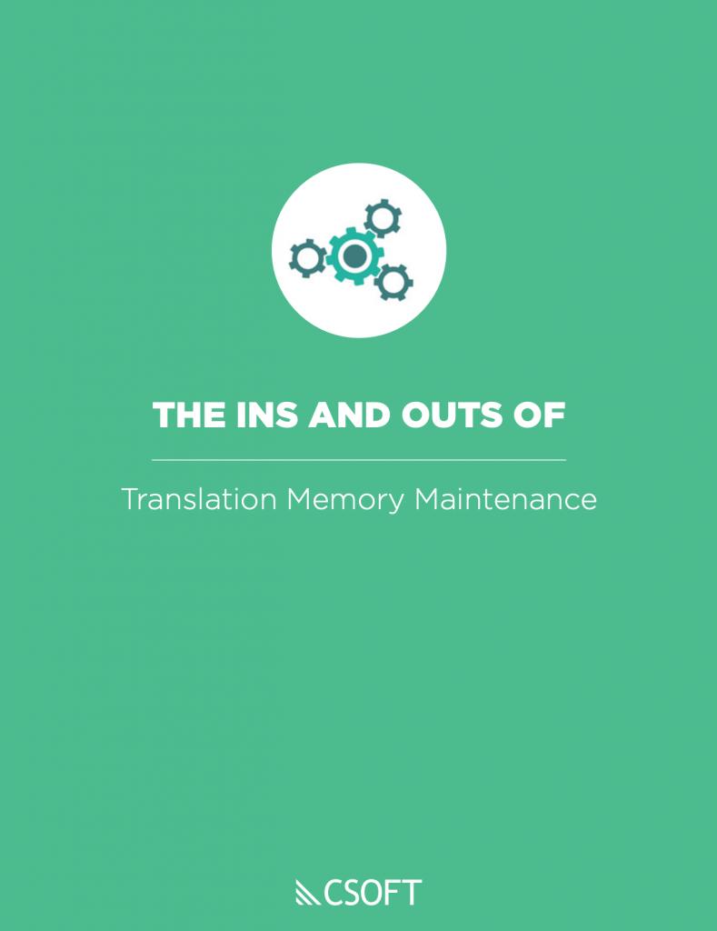 translation memory maintenance